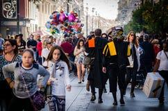 Sevilla, Spanien Dezember 2015 Traditioneller spanischer Musiker wissen Stockbilder