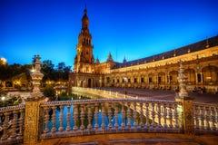 Sevilla, Spanien: Die Piazza de Espana, Spanien-Quadrat stockfotos