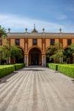 Sevilla, Spanien - 19. Juni: Der wirkliche Alcazar, Sevilla, Spanien auf Ju Lizenzfreie Stockfotos