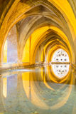 SEVILLA, SPANIEN - 4. Juni 2014 Innenraum des königlichen Alcazar in S Lizenzfreie Stockbilder