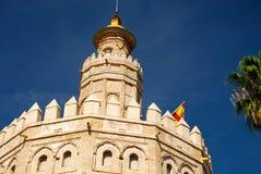 Sevilla, Spanien: Torre de Oro (Goldkontrollturm) Lizenzfreies Stockfoto