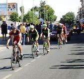 SEVILLA, SPANJE - AUGUSTUS 26, 2015: Agentenfiets in championsh Royalty-vrije Stock Foto