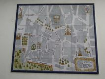 Sevilla, Spanje - Januari 26 2019 - Mozaïekwegenkaart stock fotografie
