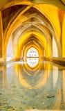 SEVILLA, SPANJE - JUNI 4, het Binnenland van 2014 van Koninklijke Alcazar in S Stock Foto