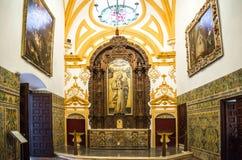 SEVILLA, SPANJE - JUNI 4, het Binnenland van 2014 van Koninklijke Alcazar in S Royalty-vrije Stock Foto
