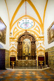 SEVILLA, SPANJE - JUNI 4, het Binnenland van 2014 van Koninklijke Alcazar in S Stock Foto's