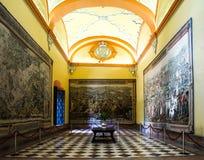 SEVILLA, SPANJE - JUNI 4, het Binnenland van 2014 van Koninklijke Alcazar in S Stock Afbeelding