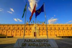 Sevilla, Spanje, 20 MAI 2015 Parlament van Andalusia Sevilla royalty-vrije stock foto