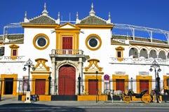 Sevilla-Stierkampfarena Stockfotos
