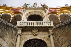 Sevilla-Stierkampfarena - königlicher Balkon Stockbild
