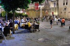 Sevilla-Straße nachts Stockfoto