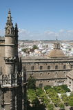 Sevilla Uteplats de los Naranjas Arkivfoton