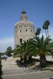 Sevilla złota wieża Hiszpanii Fotografia Royalty Free