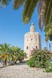 Seville - średniowieczny basztowy Torre Del Oro Obraz Stock