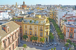 Seville. Aerial view of Sevlle, Spain Royalty Free Stock Image