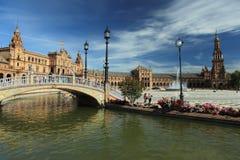 Seville. The Plaza Espana square in Seville, Spain Stock Image
