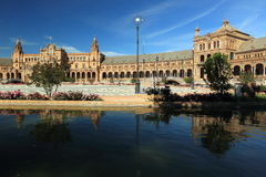 Seville. The Plaza Espana in Seville, Andalusia, Spain Stock Photography