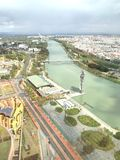 Seville from above. Sevilla, Andalusia stock photography