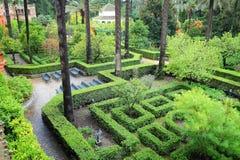 Seville Alcazar gardens Royalty Free Stock Images