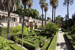 Seville Alcazar Gardens Stock Photo