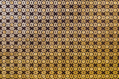 Seville Alcazar Sala de Audiencias. Detail of the coffered ceiling of geometric forms and gilt fleurons in the Sala de Audiencias, Alcazar of Seville, Spain stock image