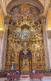 Seville - The altar of Sacramental chapel in baroque Church of El Salvador (Iglesia del Salvador) Stock Photos