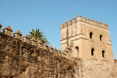 Seville ancient city walls Stock Photography
