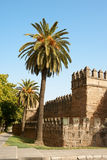 Seville ancient city walls Royalty Free Stock Photo