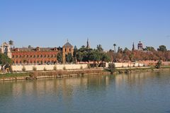 Seville anda river Guadalquivir Royalty Free Stock Images