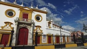 Seville, Andalucia, Spain - April 18, 2016: Plaza de Toros de la Real Maestranza