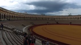 Seville, Andalucia, Spain - April 18, 2016: Plaza de Toros de la Real Maestranza