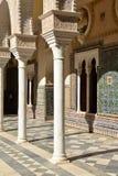 Seville, Andalusia, Spain. Casa de Pilatos arabic mudejar architecture. Seville, Andalusia, Spain. Casa de Pilatos Spanish, Andalusian palace, moresque mudejar Royalty Free Stock Images
