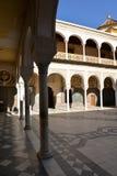 Seville, Andalusia, Spain. Casa de Pilatos arabic mudejar architecture. Seville, Andalusia, Spain. Casa de Pilatos Spanish, Andalusian palace, moresque mudejar Royalty Free Stock Photo