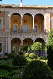 Seville, Andalusia, Spain. Inner court garden at the Casa de Pilatos Royalty Free Stock Images