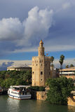 Seville, Andalusia, Spain.Torre del Oro (Golden Tower). Royalty Free Stock Image