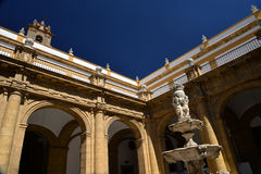 Seville, Andalusia, Spain, university courtyard Royalty Free Stock Photos