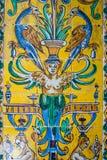Seville Andalusia, Spanien - detalj av den kungliga alcazaren i Seville arkivbild