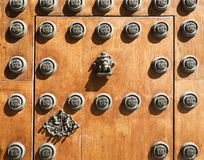 Seville Archbishop Palace. Detail of the main door of the Archbishop Palace in Seville, Spain Royalty Free Stock Image