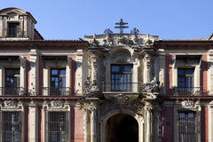 Seville Archbishop Palace. Facade of the Spanish Baroque architectural style Archbishop Palace of Seville, Spain Stock Images