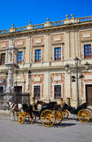 Seville Archivo Indias horse carriage Royalty Free Stock Image