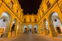 Seville - The atrium of University fromer Tobacco Factory Royalty Free Stock Photos