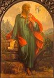 Seville - barokowy fresk archanioła Raphael i Tobias w kościelnym Szpitalu De Los Venerables Sacerdotes Zdjęcia Stock