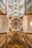 Seville - The baroque cupola and ceiling of church Basilica del Maria Auxiliadora. Stock Photos