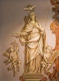 Seville - The baroque fresco of Virgin Mary in church Hospital de los Venerables Sacerdotes Royalty Free Stock Photo