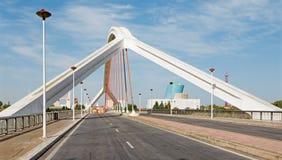 Seville, Barqueta most - (Puente De Los angeles Barqueta zdjęcie stock