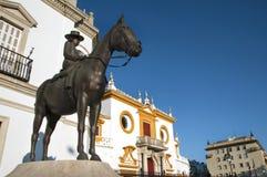 Seville bullring facade Stock Images