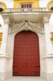 Seville bullring - Main entrance door Stock Image