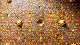 Seville Casa de Pilatos Decorated mudejar ceiling Royalty Free Stock Image