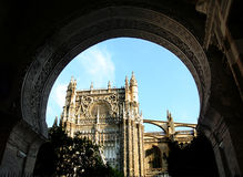 Seville Cathedral. With Gothic and Moorish architecture royalty free stock photo