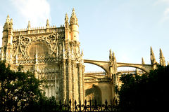 Seville Cathedral. With Gothic and Moorish architecture royalty free stock image